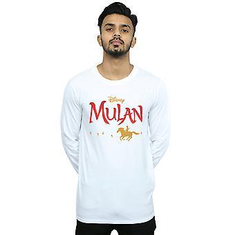 Disney Men's Mulan Movie Logo camiseta de manga larga