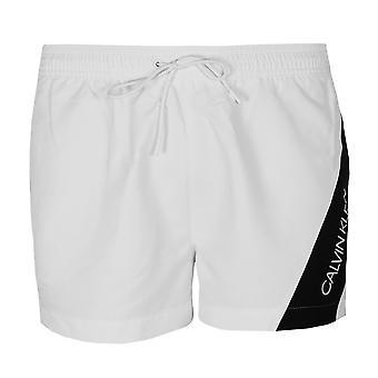 Calvin klein men's classic white swim shorts