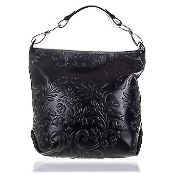 Florence Artegiani Bolso De Mujer Piel Aut ntica Grabado With Reason Arabescos Y Lacado Bag Messenger 33 cm Black (Negro)