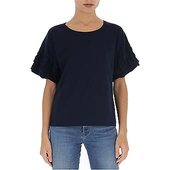 See By Chloé Chs20sjh330814c3 Women's Blue Cotton T-shirt