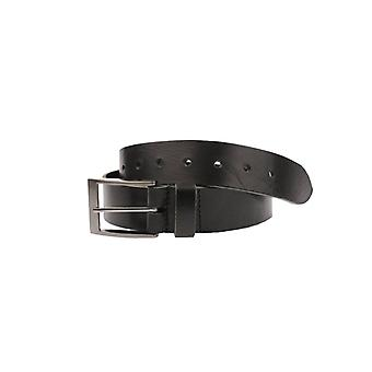 Black Volnerf Leather Men's Belt