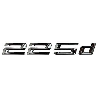 Silver Chrome BMW 225d Car Model Rear Boot Number Letter Sticker Decal Badge Emblem For 2 Series F22 F45 F46