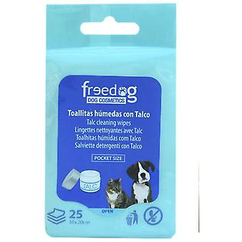 Freedog Talc towelettes 18X20Cm (Dogs , Grooming & Wellbeing , Cleaning & Disinfection)
