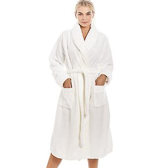 Camille Luxurious Supersoft Ivory Honeycomb Bathrobe