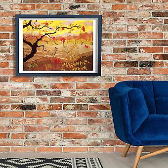 Paul Ranson - Apple Tree with Red Fruit 1902 Poster Print Giclee