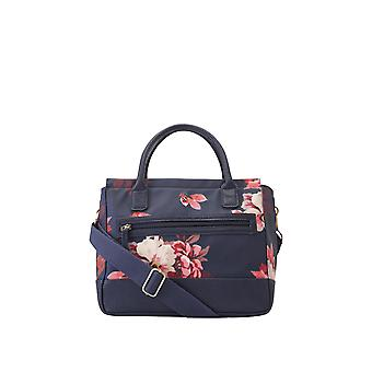 Joules Day To Day Canvas Shoulder Bag - French Navy Bircham Bloom