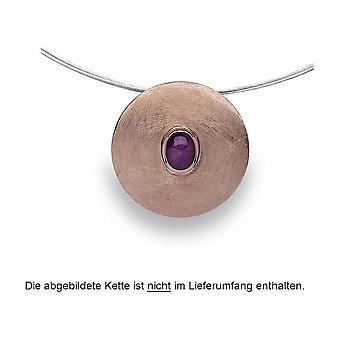 Bastian Inverun 925 silver pendant rose plated ruby quartz 1.49 ct 22430