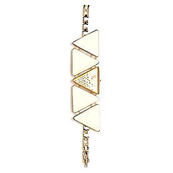 Eton Bracelet Fashion Watch,  Gold Tone Triangle shaped case & links - 3092J-BK