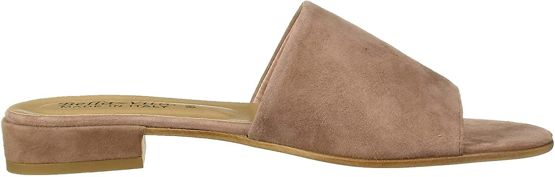 Bella Vita Kvinner's TES-Italia Slide Sandal Shoe, Rødme italiensk semsket skinn, ...