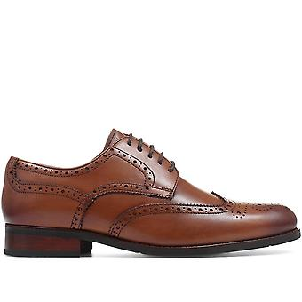 Jones Bootmaker Mens Phoenix Wide-Fit Men's Brogues