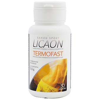 Licaon Termofast Food Supplement 30 Capsules 15.5 gr