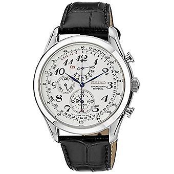 Relógio Seiko cronógrafo quartz masculino com couro SPC131P1