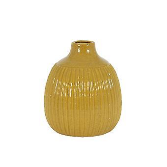 Light & Living Vase Deco 17.5x21.5cm Salvada Shiny Ocher