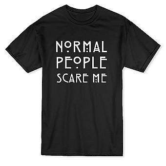 La gente normal Me asusta camiseta divertido hombres