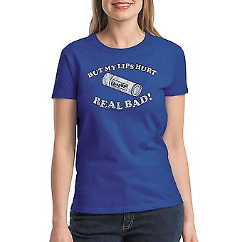 Napoleon Dynamite Lips Hurt Women's Royal Blue Funny T-shirt
