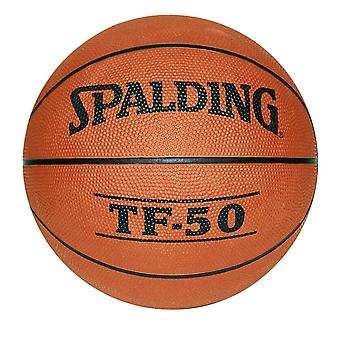 Spalding TF-50 Indoor Outdoor Rubber Basketball Tan