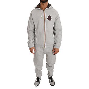 Gray cotton sweater pants tracksuit a07