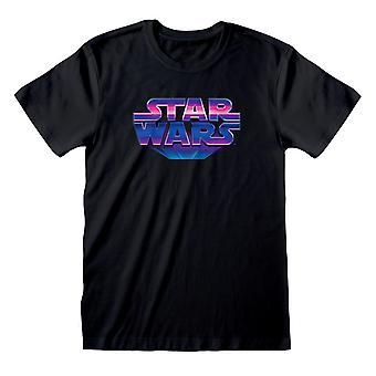 Star Wars 80&s Logo Miehet's T-paita | Viralliset tuotteet