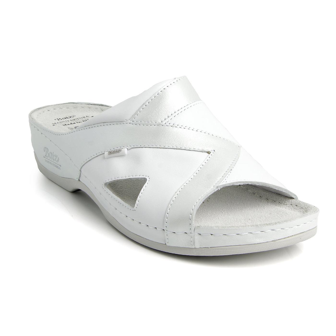 Batz VIKI Handmade Wysokiej jakości skórzane damskie sandały Chodaki Muły Kapcie Buty qfyq8