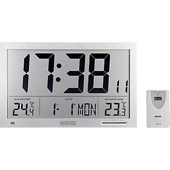 Eurochron EFWU جمبو 102 راديو الجدار ساعة 370 ملم × 230 ملم × 30 ملم فضة