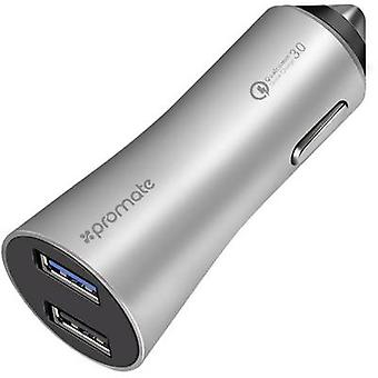 Pro Mate Robust-QC3 silver Robust-QC3silver USB charger Car, HGV Max. output current 4800 mA 2 x USB 3.0 port A, USB