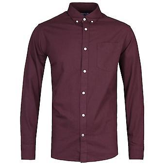 NN07 5722 Levon Burgundy Long Sleeve Shirt