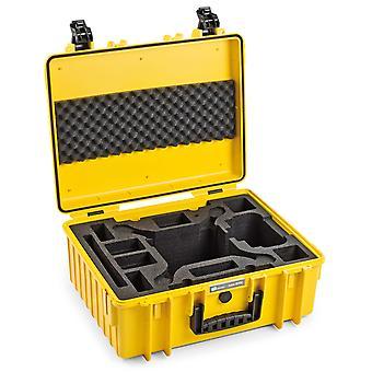B&W Copter Case Type 6000 voor DJI Phantom 4 / 4 Pro / 4 Pro Plus / 4 Geavanceerd, geel met foam insert