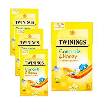 Twinings 4 x 20 Tea Bags Camomile & Honey