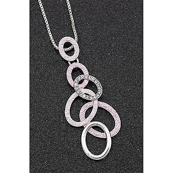 Equilibrium Pastel Tones Blush Hoops Necklace