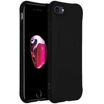 Case iPhone 7 /8/SE 2020 made with silicone Narrow resistant and ligth Black