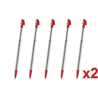 10x Wii U Red Metal Retractable Stylus Touch Pen for Nintendo