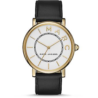 Marc Jacobs MJ1532 Roxy White Dial Black Leather  Ladies Watch