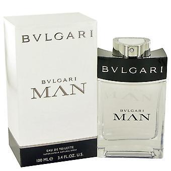 Homem de Bvlgari Eau De Toilette Spray por Bvlgari 3,4 oz Eau De Toilette Spray