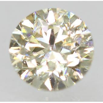 Sertifioitu 0,46 karaatin J väri VS1 pyöreä loistava parannettu luonnollinen timantti 4,67 mm