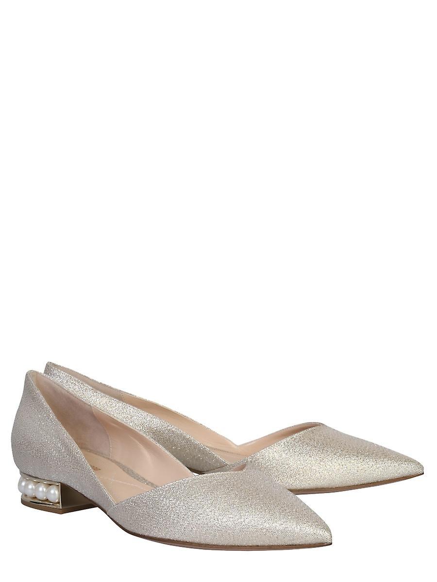 Nicholas Kirkwood 902a04lurxy99 Women's Silver Leather Flats eY3JqO