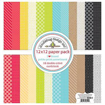 Doodlebug Petite Prints Double-Sided Cardstock 12