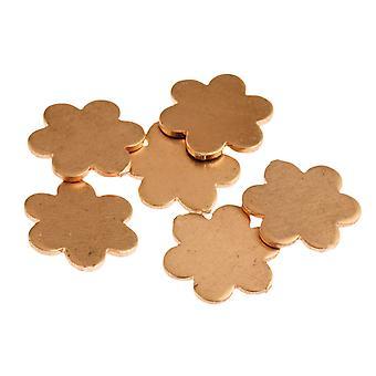 Kupfer Blanks kleine Gänseblümchen Pack von 6 14mm