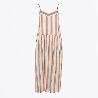Teoh & Lea - Multicolour Striped Slip Dress