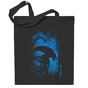 Alien Side Profil Blå Totebag