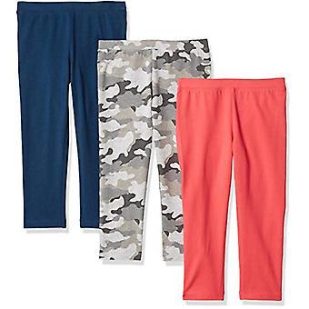 أساسيات الفتيات و apos؛ 3 حزمة كابري Legging، كامو / الوردي / الأزرق S