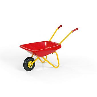 Rolly Metal & Plastic Wheelbarrow Red & Yellow