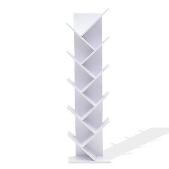 Bibliothek Regal 10 Regale weiß Holz modern Stil Urban 160x44.5x22