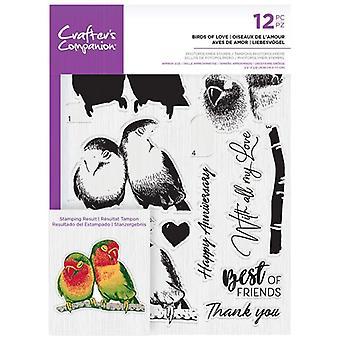 Crafter's Companion Linnut rakkauden selkeä postimerkit