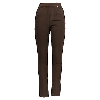 Belle by Kim Gravel Women's Pants Tall Flexibelle Jegging Brown A368552