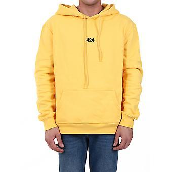 424 80081154034 Men's Yellow Cotton Sweatshirt