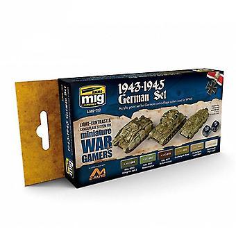 ●弾薬:ミグウォーゲームアクリルペイントセット - 1943-45ドイツ語セット
