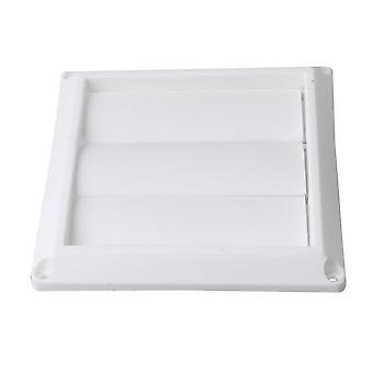 Ventilación de 10,2 cm de diámetro de plástico blanco Louvered 6 pulgadas x 6 pulgadas