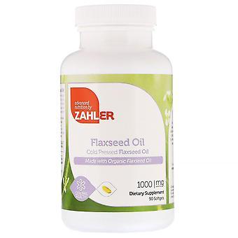 Zahler, biologische lijnzaadolie, 1.000 mg, 90 Softgels
