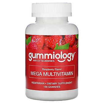Gummiology, Adult Mega Multivitamins Gummies, Natural Raspberry Flavor, 100 Vege