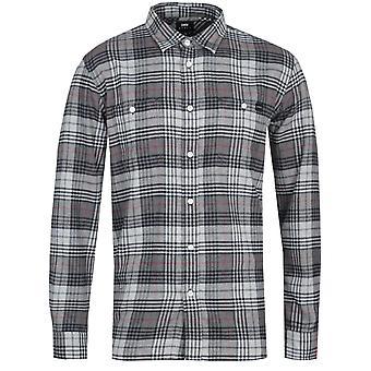 Edwin Arbeid Grijs lange mouw shirt